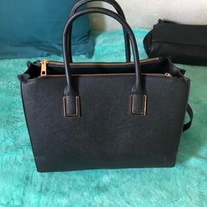 Black Bag Purse Book Bag